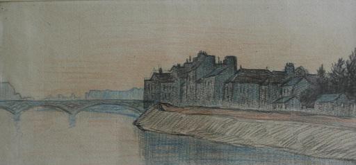 Léo GAUSSON - Drawing-Watercolor - Paysage de Lagny sur Marne