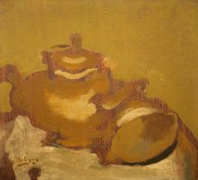 Georges BRAQUE - Peinture - Thèiére et Citron