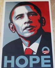 "Shepard FAIREY - Stampa Multiplo - ""HOPE"""