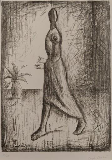 Carlo CARRA - 版画 - Il Poeta folle