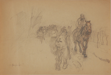 """Carl FAHRINGER - Drawing-Watercolor - Carl Fahringer (1874-1952) """"From the First World War"""""""