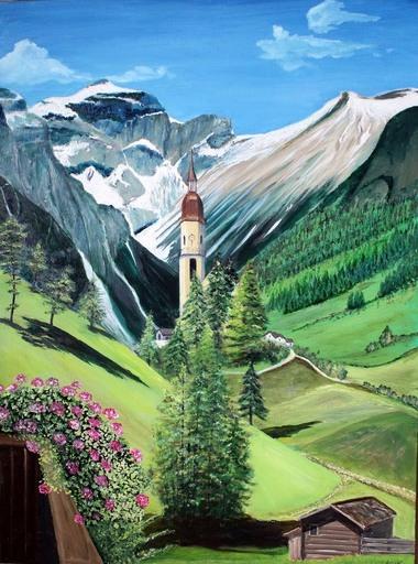 Jean PARRAUD - Painting - Autriche - Village typique du tyroll