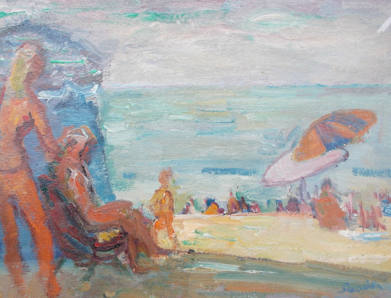 Henri SAADA - Pintura - Plage à Trouville