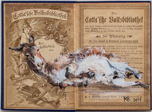 Kristin KOLB - Drawing-Watercolor - Esel