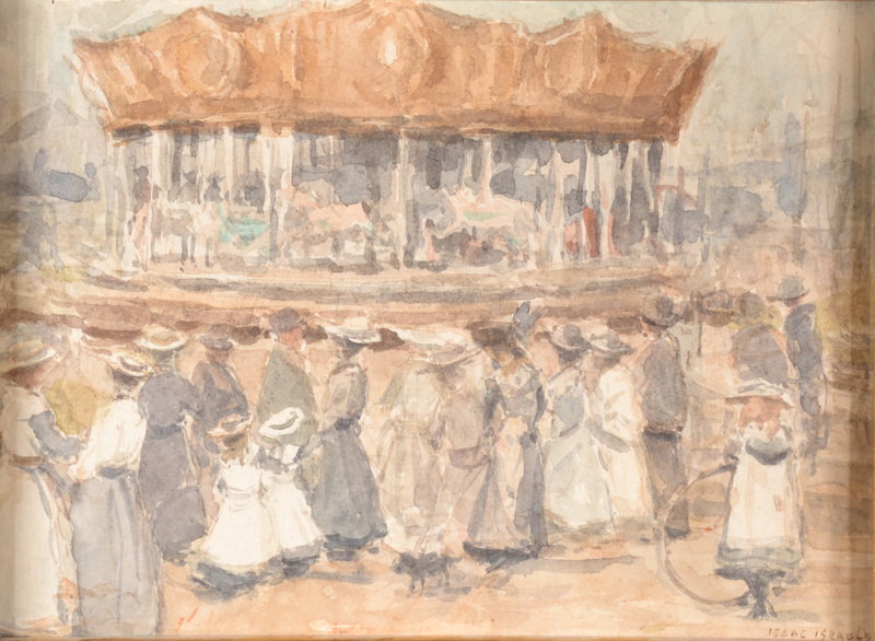 Isaac Lazarus ISRAELS - Drawing-Watercolor - Untitled (Carousel)
