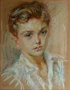 René Marie CASTAING - Dibujo Acuarela - PORTRAIT D'ENFANT