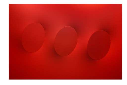 Turi SIMETI - Painting - 3 ovali rossi