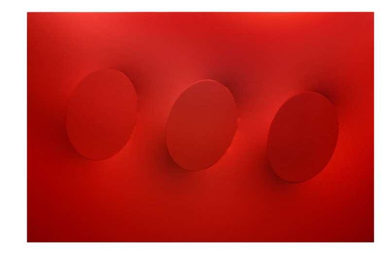 Turi SIMETI - Pittura - 3 ovali rossi