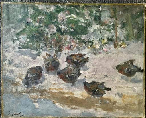 Ernest QUOST - Painting - Oiseaux