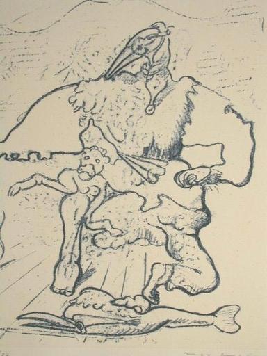 Max ERNST - Grabado - Le Parquet Se Souleve - 1939