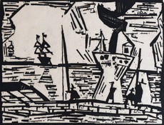 Lyonel FEININGER - Print-Multiple - On the Quay Wall | Auf der Quaimauer
