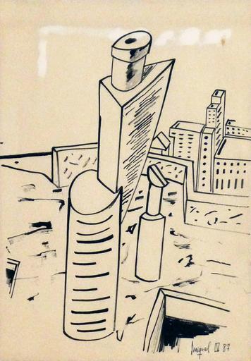 Miquel NAVARRO - Drawing-Watercolor - Sin Título