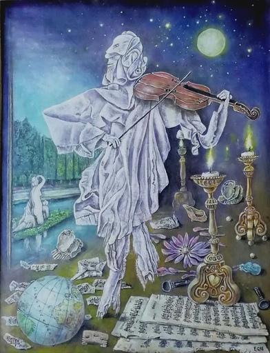 Erich GARGERLE - Gemälde - La valse( nach M. Ravel)