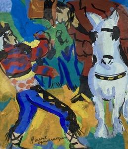 Pierre AMBROGIANI - Drawing-Watercolor - Le cavalier