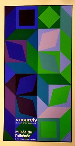Victor VASARELY - Grabado - Op art
