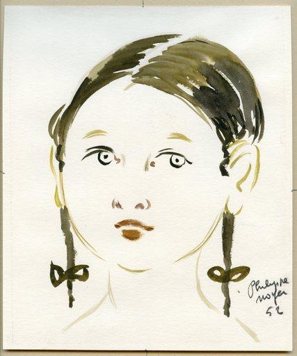 Philippe Henri NOYER - 水彩作品 - DESSIN À LA GOUACHE 1952 SIGNÉ HANDSIGNED GOUACHE DRAWING