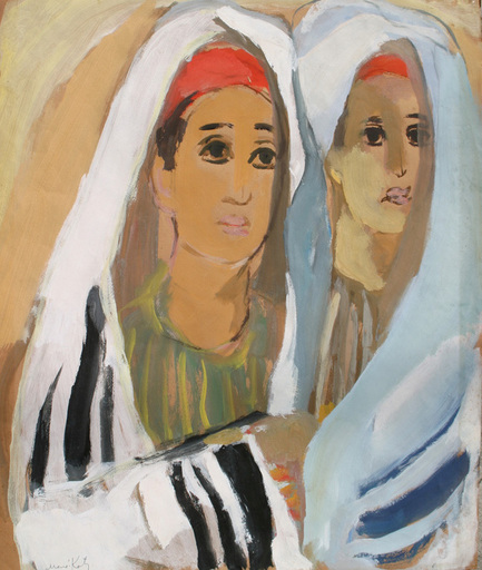MANÉ-KATZ - Painting - Two Yeshiva Boys