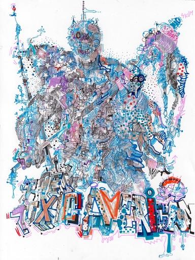 Michael ALAN - Drawing-Watercolor - Toxic American