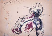 Carsten NICOLAI - Dibujo Acuarela - Kopf an Körper