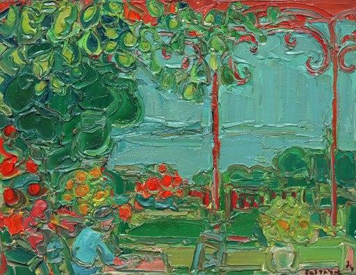 André COTTAVOZ - Pittura - La Terrasse