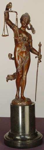 Hermann EICHBERG - Escultura - Blind Justice