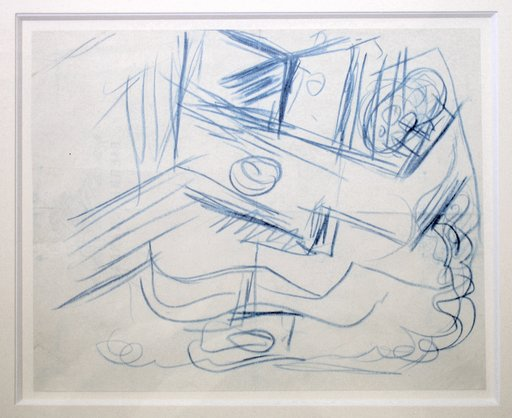 Jacques LIPCHITZ - Zeichnung Aquarell - Instrument musical