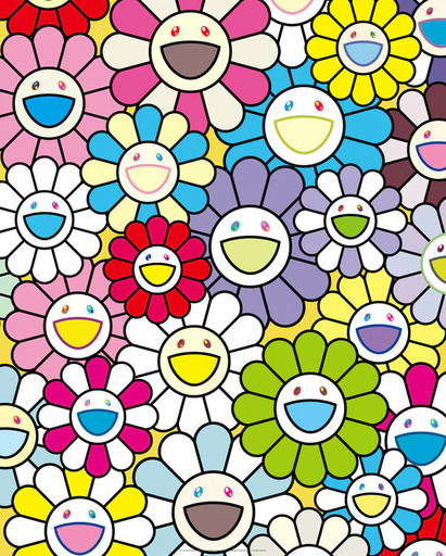 Takashi MURAKAMI - Grabado - A Little Flower Painting II
