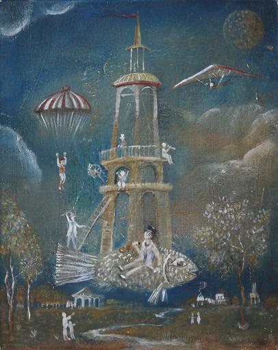 Vasily KAFANOV - Painting - Fish-Tower 3