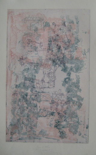 Camille BRYEN - Grabado - GRAVURE SIGNÉE AU CRAYON HANDSIGNED ETCHING ABSTRACTION