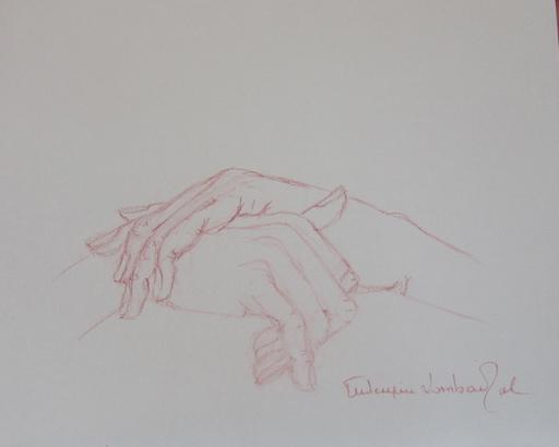 "Frédérique LOMBARD MOREL - Disegno Acquarello - "" WAITTING """