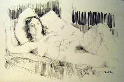 Ademaro BARDELLI - Drawing-Watercolor - Nu