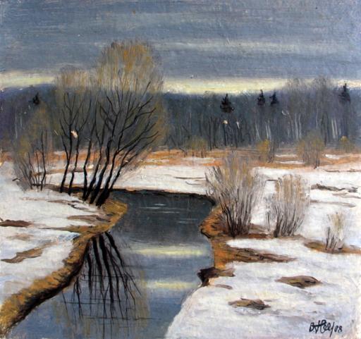 Valeriy NESTEROV - Painting - Bankiya river. Pavshino Moscow district
