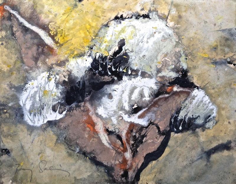 Baruj SALINAS - Dibujo Acuarela - Three Cloud Petals