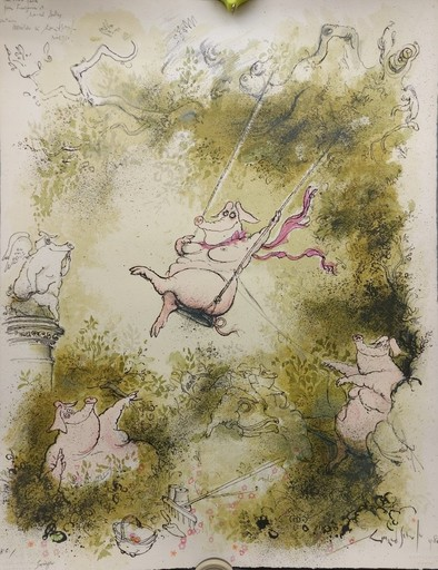 Ronald SEARLE - Stampa-Multiplo - Swinger