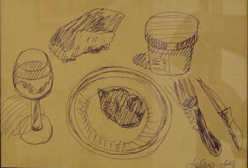 SALVO - Drawing-Watercolor - Natura morta