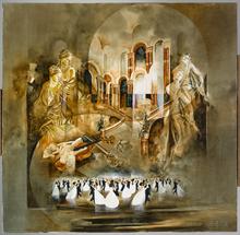 Roger SURAUD - Peinture - BAL A L'OPERA
