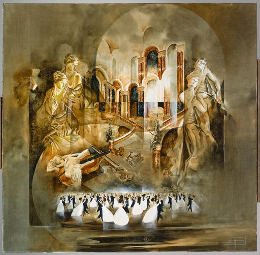 Roger SURAUD - Painting - BAL A L'OPERA