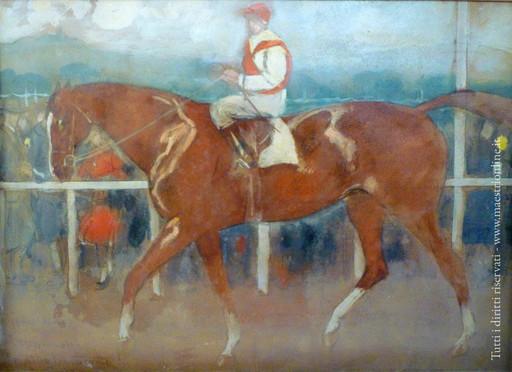 Camillo INNOCENTI - Gemälde - Capannelle