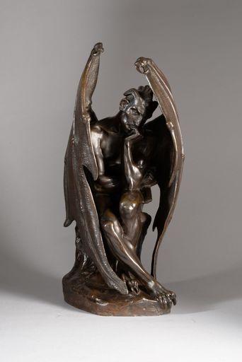 Jean Jacques FEUCHERE - Skulptur Volumen - MÉPHISTOPHÉLÈS ou SATAN, 1ère version