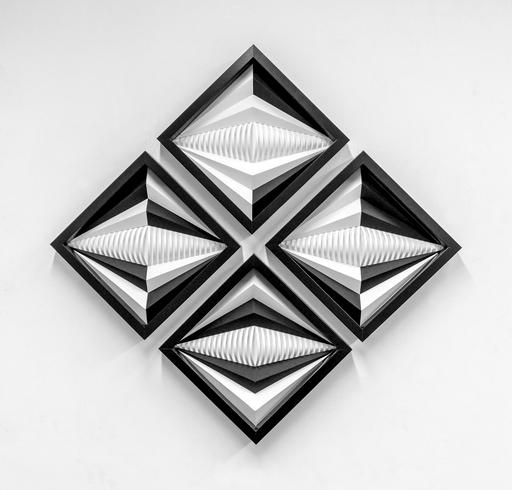 Fabrice AINAUT - Dibujo Acuarela - Variation autour d'un losange B