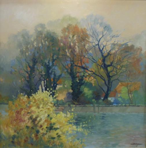 Lionel OUINE - Peinture - Printemps à Sahurs