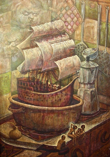 Victor HUERTA BATISTA - Pintura - La cucina vieja