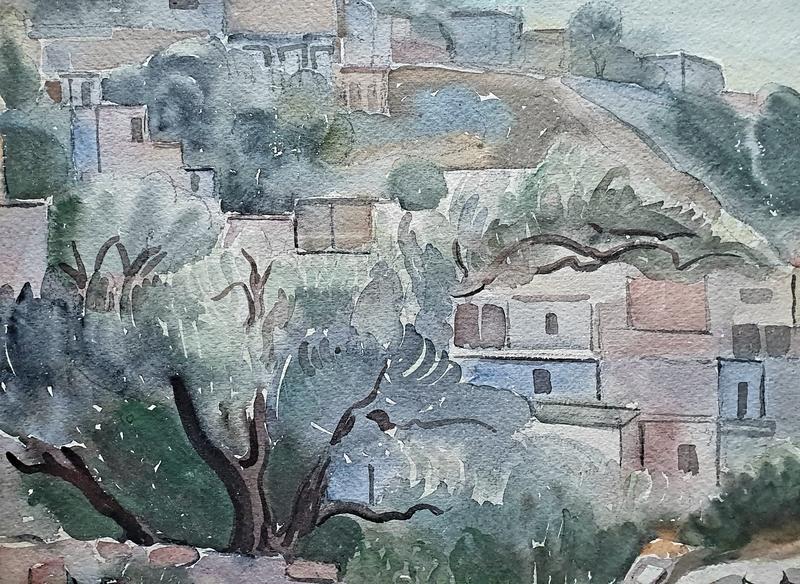 Sultana SOROUJOUN - Drawing-Watercolor - Landscape in the Israel