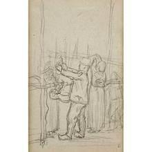 Pierre BONNARD - Drawing-Watercolor - Paysans au travail - Peasants at Work