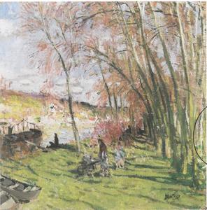 Pierre Eugène MONTEZIN - Painting - Les grands peupliers