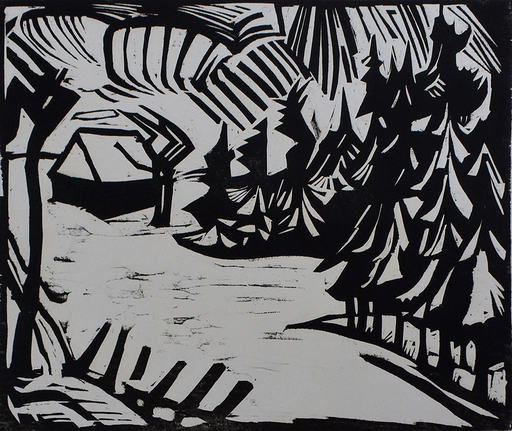 埃里希·黑克尔 - 版画 - Ore Mountain Landscape | Erzgebirgslandschaft