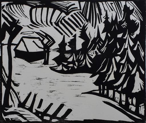 Erich HECKEL - Stampa-Multiplo - Ore Mountain Landscape | Erzgebirgslandschaft