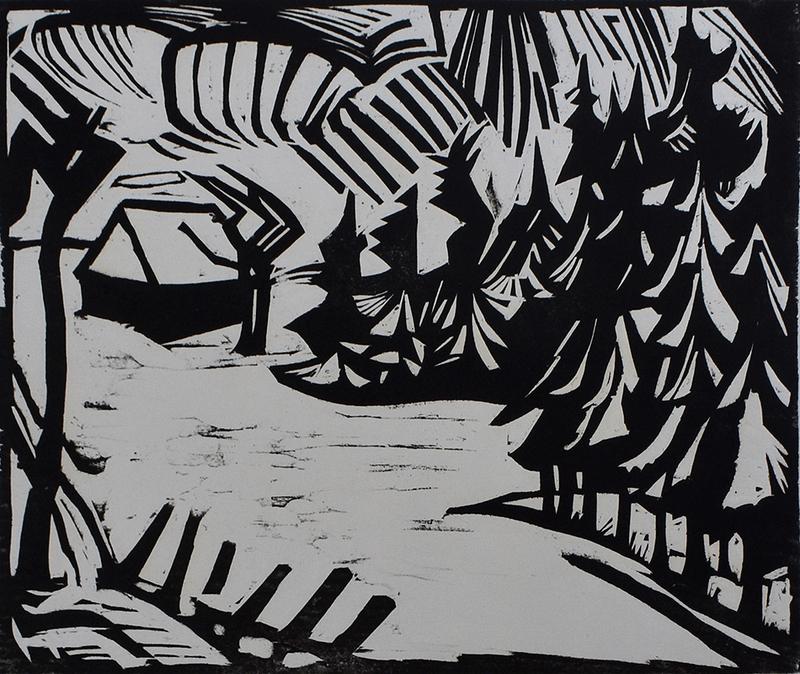 埃里希·黑克尔 - 版画 - Ore Mountain Landscape   Erzgebirgslandschaft