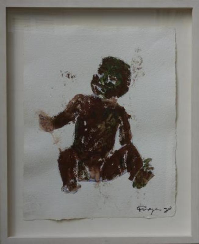 Philippe PASQUA - Peinture - Seated Child