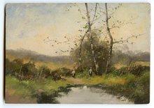 Eugène GALIEN-LALOUE - Peinture - HUILE SUR PANNEAU SIGNÉ L. DUPUIS HANDSIGNED OIL ON WOOD